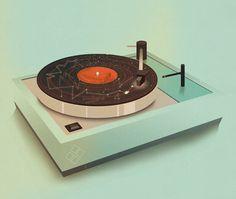 Jack Hughes Illustration - Galactic Plastic #record #vinyl #illustration
