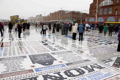 The Comedy Carpet, Blackpool | Gordon Young and Why Not Associates | typetoken® #the #comedy #carpet #art #typography