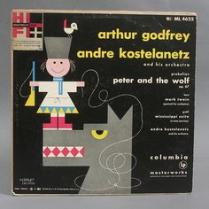 Peter & the Wolf Record Cover by Herbert Leupin