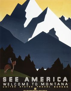 See America WPA Poster #poster illustration america national parks