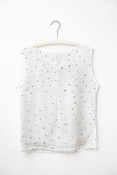 Painted Dots Silk Tee #painted #hand