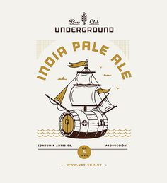 Underground Beer Club Label #beer #label #poster