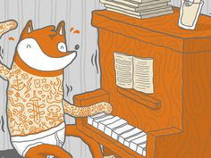 mr #fox on piano