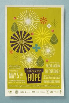 Cultivate Hope « The Tenfold Collective Blog #leaf #design #tenfold #poster #flowers
