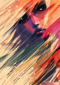 FFFFOUND!   dry window, look up the sky by ~wataboku on deviantART #digital #illustration #color