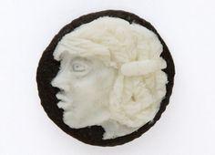 judith klausner: oreo cameo #oreos #judith #klausner #food #art