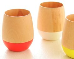 Product Lust / wood color tumblers from ITUTU #product #design