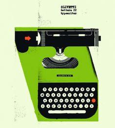 Rik #olivetti #typewriter #poster #lettera22