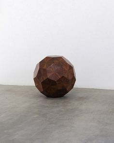 """Weiwei \""""Wooden ball\"""" in exhibition with curator Norman Foster"""