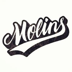 Molins #calligraphy #lettering #script #branding #retro #black #logo #typography