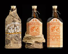 spirit bottle labels #packaging #liquor #label #strangerstranger
