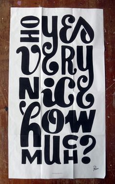Oh yes very nice how much? #lettering #typography #poster