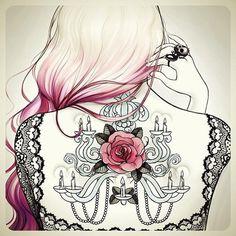 Tattoo Sketches by Tati Ferrigno | Cuded #sketches #tattoo #tati #ferrigno