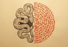 Domenico Romeo #calligraphy #snakes #illustrations #snake