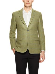 Mr. Brown by Duckie Brown Cashmere Large Check Sportcoat #fashion #suit