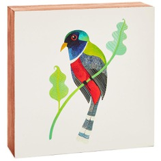Geninne Zlatkis Multicolored Bird Square Wood Sign, 5.8""