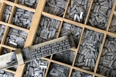 Metal movable type #hermann #zapf