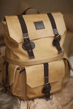 Langly — Alpha Rucksack #bag #camera #backpack #buckles #canvas #wax #waxed