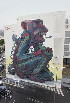 this isn't happiness™ Peteski #mural #monkey
