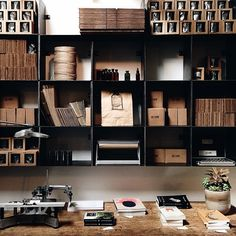 Visual Dose March 29, 2015 at 03:48AM | Designcollector #shelves #office #desk