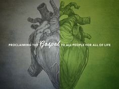 Gospel #heart #quote #print #typography #saying #green