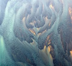 Aerial Photographs of Volcanic Iceland by Andre Ermolaev #blue #aerial #photo #water #nature #gold