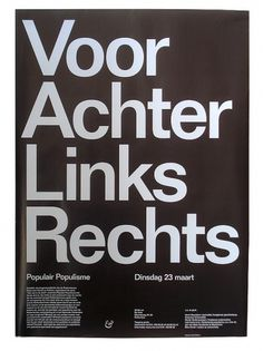 almost Modern : Populair Populisme #helvetica #poster #typography