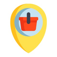See more icon inspiration related to shop, bag, maps and location, commerce and shopping, placeholder, store, localization and shopping on Flaticon.