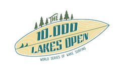 The 10,000 Lakes Open Steve Mino Design #wake #surfing #design #logo #mn