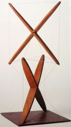 Ken Snelson, sculpture, wood, wire, 1949 #ken #sculpture #design #snelson #art