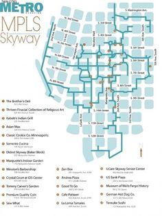 Skyway Maps - Adam Marks Advertising #marks #map #metromag #adam #minneapolis #adamjmarks #skyway