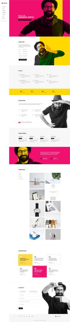 Brando #Responsive & #Multipurpose #OnePage #Template For Personal #Resume by #ThemeZaa http://goo.gl/VGP5GC