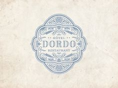 Dribbble - Dordo by JC Desevre #badge #dordo #design #emblem #graphic #logo #desevre #jc