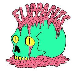 The Flippants's #retro #music #green #pink #band #80s #flippants