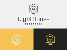 lighthouse #logo #logotype #electrics