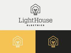 lighthouse #logo #electrics #logotype