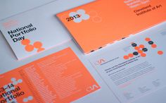 2013 National Portfolio Day - Nicole #helvetica #collateral #branding #neon
