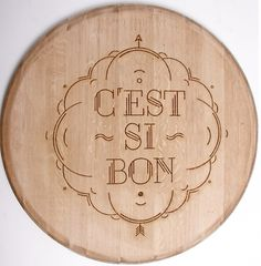 Wood Typography Engraving on the Behance Network #cheese #quote #food #wine #engraving #wood #type #typography
