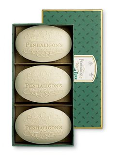 Penhaligon's - TheDieline.com - Package Design Blog / Bench.li #typography #design #soap #vintage #package #green