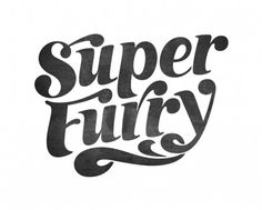 All sizes | Super Furry logo | Flickr - Photo Sharing! #illustration #typography #logo #lettering #handmade