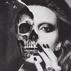 Beautiful Bitch | via Facebook #face #skull