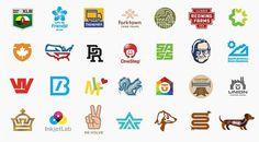 logos.jpg 800×442 pixels #lines #vectors #thick #aaron #design #illustration #draplin #logo