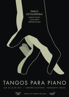 Tangos para piano CD on Behance