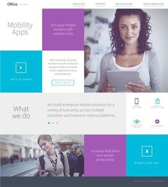 Oltiva Solutions Web by Nohemi Olvera, via Behance #grid #layout #web