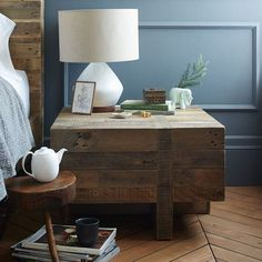 Emmerson Reclaimed Wood Block Side Table #table #side