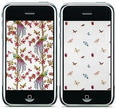 Design*Sponge » Blog Archive » nina campbell iphone wallpapers #wallpapers #pattern #campbell #bird #butterfly #iphone #nina