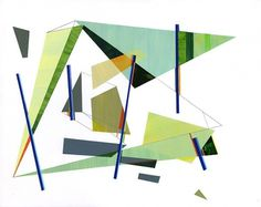 Untitled (7) : Rick Reese #abstract #paint #geometric