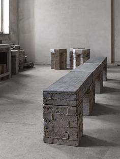 Brick Bench / Table by Bram Vanderbeke