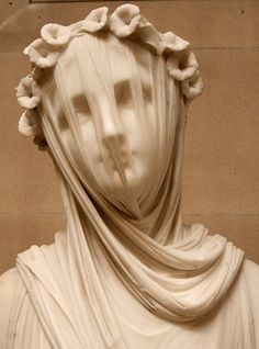 Chatsworth veiled statue face #veil