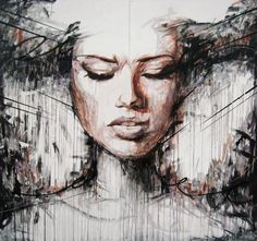 Abstract Portrait Paintings by Danny O'Connor #abstract #danny #oconnor #portrait #paintings